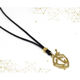 Colar Cordao Masculino Feminino Religioso Escudo Fé Dourado
