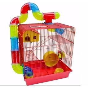 Gaiola Hamster Luxo Labirinto 3 Andares Completa Promoção