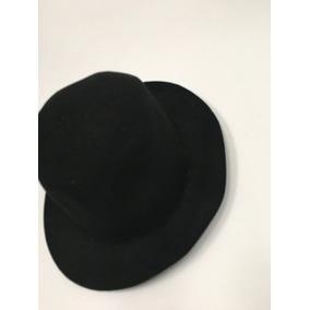Sombrero De Fieltro Negro De Ala Corta fe8e9bca00b