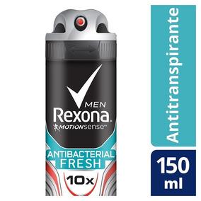 Desodorante Aerosol Rexona Antibacterial Fresh Masculino 150