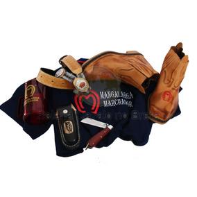 Camisa E Botina Mangalarga + Cinto Bainha Canivete + Brinde