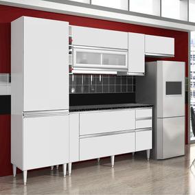 Cozinha Compacta 4 Peças Com Paneleiro E Tampo Único Dg