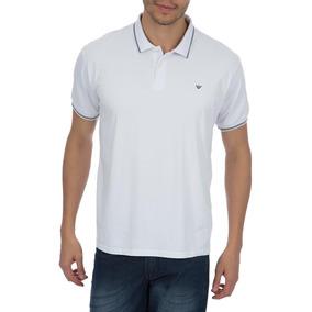 a80514d6a5 Camisa Polo Colombo Masculina Branca Com Detalhe por Camisaria Colombo