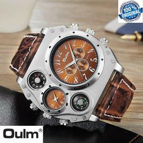 b00e0612d8e Relógio Masculino De Pulso Oulm L Militar Couro Esportivo