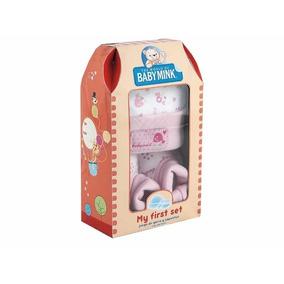 My First Set Juego De Gorro Y Zapatitos Baby Mink 0-3 M