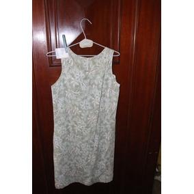 = Roupa Lote 596 Mulher Bata Vestido Scene Verde Florido Zip