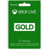 Xbox Live Gold 12 Meses   Codigo Original Colombia