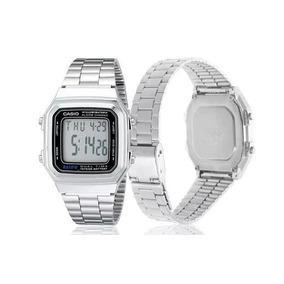 76c9e90d1a2 Relógio Casio A178wa-1a Aço Inox Vintage Digital. R  49