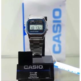c87f158ade0 Relogio Casio A158 Unisex Retrô Vintage Prata A159 - Relógios De ...