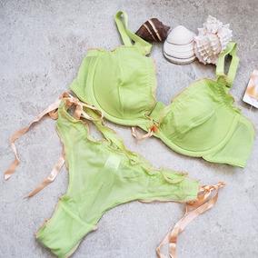 Lenceria Americana 34b Verde Pistache Panty S Sku103