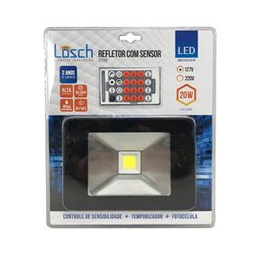 Refletor De Led Com Sensor De Presença 20w 6000k 127v -