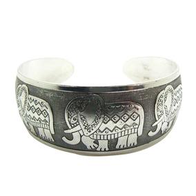 Bracelete Feminino Elefante Indiano Liga Metálica Tibetano