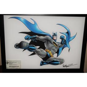 Print Batman Emoldurado E Autografado Garcia López Ccxp2014