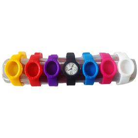 Relógio Sete Pulseiras Coloridas - Unissex - Novo - C/ Nota