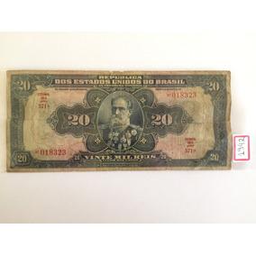 Cédula Dinheiro Antigo 20 Mil Réis 1942 Deodoro Coleção Nota