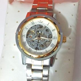 66a73ebe42b Lindo Relógio De Luxo Automático Timi Gold Skeleton - Relógios De ...