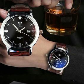 c2c5c4b9259 Relógio Masculino Yazole Pulso Estilo Social Couro Cód.135 ...
