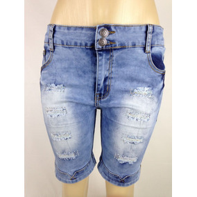 b708a151f9 Bermuda Feminina Jeans Maria Joao Plus Size no Mercado Livre Brasil