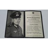 Cartão Falecimento Soldado Alemão Ww2 Konrad Baumgartner