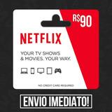 Cartão Presente Netflix Pré-pago R$ 90 Reais - Envia Agora!