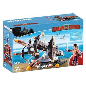 Playmobil - Como Treinar Seu Dragão - Eret E Catapulta - 924