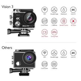 Camara De Accion 4k 16mp Dragon Touch Vision 3 +32gb Sd