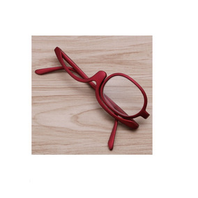 Óculos Para Maquiagem (armação) Gira 180 Graus Cor Vermelha