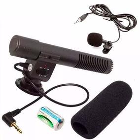 Microfone Shotgun Direcional Para Canon T5i 60d Com Lapela