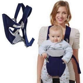 Canguru Baby Bag Carregador De Bebê Luxo Com Babador Azul