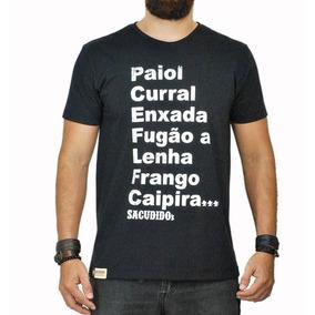 Camiseta Masculina Sacudido´s Preta 58606e0bc9a34