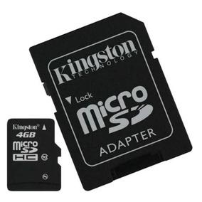 Cartão De Memória 4 Gb Kingston + Adaptador Sdhc