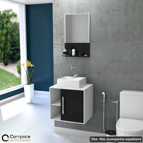 Gabinete Balcão Banheiro Quadratta Uv + Cuba Q32 #