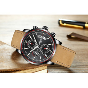 Relógio Masculino Nibosi 2327-2 Orig. 30 M Pulseira Preta