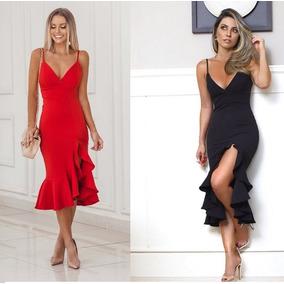 4bdf8cc78f244 Vestido Curto Vermelho Casual Chic - Vestidos no Mercado Livre Brasil