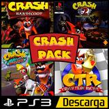 Crash Pack 4 Juegos Ps3 Semi Español