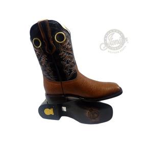 d53036769a Bota Rodeo Cuello De Toro Café Original Juniorcowboy