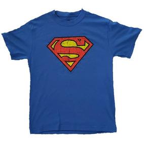 Playeras Logo Superman Dc Para Niños 100% Algodon Beloma