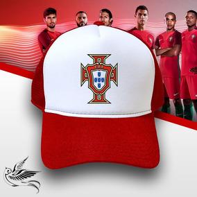 Boné Seleção Portugal Vermelho Branco Trucker Frete Grátis 228b2a0b853