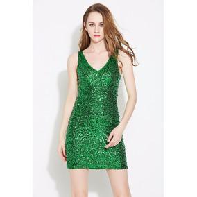 Zapatos para vestido verde lentejuelas