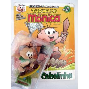 Miniatura Cebolinha 10 Cm Com Fascículo Nº 2 Turma Da Mônica