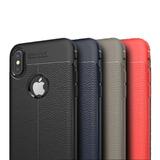 Protector Slim Tipo Piel Iphone 6 6s 7 8 Plus X +mica Templa
