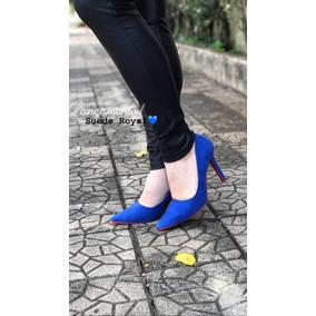 6c8196bd2b Scarpin Azul Royal Feminino - Sapatos no Mercado Livre Brasil