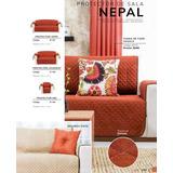 Protector Sala Nepal Chedron Beige 3 Piezas 2vistas Vianney