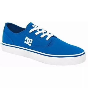 Tenis Dc Shoes Flash 2 Textil Azul Rey Talla 23.5cm