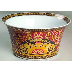 Versace Rosenthal Medusa Roja Open Bowl De Porcelana Alemana