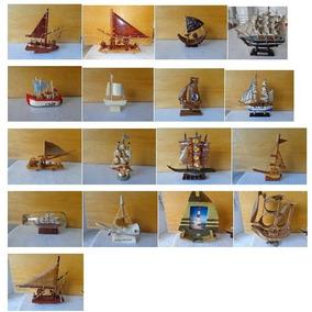 Coleção De Barcos Miniaturas