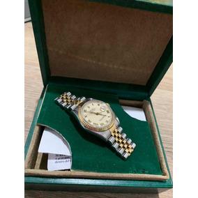 Rolex Datejust 36mm Acero Y Oro Zafiro Cambio Rapido