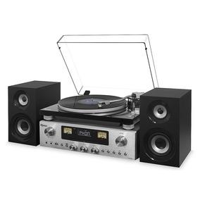Receiver Toca Discos Raveo Saída Aux Rádio Fm Bluetooth 80w