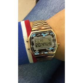 ab922f0ba6d Relogio Casio Mini Retro Dourado Feminino - Relógios De Pulso no ...
