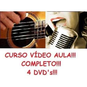 Curso De Violão + Canto! Aulas Em 4 Dvds! Ikl